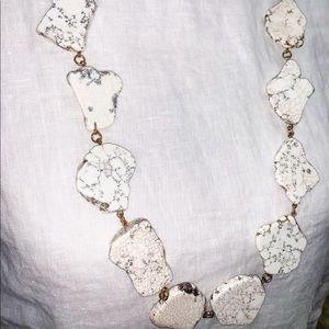 Jewelry - White Marble Rivulet stone necklace
